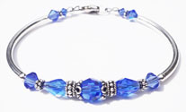 September Sapphire Swarovski Crystal Birthstone Bangle Bracelet