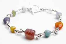 Every Day Smooth Stone Chakra Bracelet