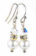 April - Crystal Gold Birthstone Earrings