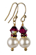 July - Ruby Gold Birthstone Earrings