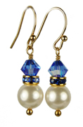 September - Sapphire Gold Birthstone Earrings