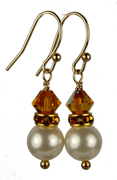November - Topaz Gold Birthstone Earrings