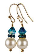 December - Blue Zircon Gold Birthstone Earrings