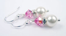 October - Tourmaline Silver Birthstone Earrings