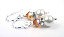 November - Topaz Silver Birthstone Earrings