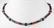 Stability Mens Beaded Necklace
