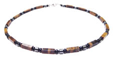 Tiger Eye Grounded and Stability Chakra Mens Beaded Necklace